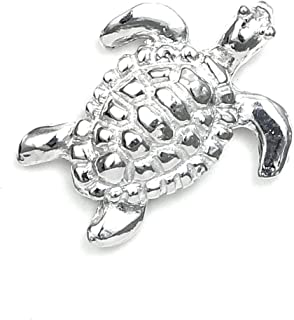 Handcrafted Pewter Turtle Scarf Pin with Magnetic back - Sea Turtle - Tortoise - Made in USA