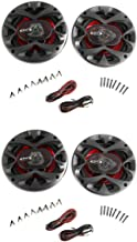 """4) New BOSS CH6520 6.5"""" 2-Way 500W Car Coaxial Audio Speakers Stereo Red 6 1/2"""" photo"""