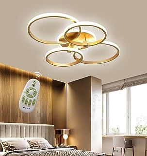 Luminaire Plafonnier LED Dimmable Lampe de Salon avec Télécommande Anneau Rond Moderne Design Plafonnier de Chambre à Couc...