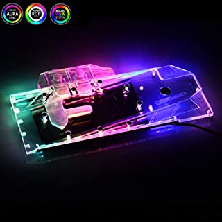 Bykski GPU Copper RBW LED Water Cooling Block for Founder Edition AMD Radeon Dataland ASRock Asus Sapphire RX5700XT 5700