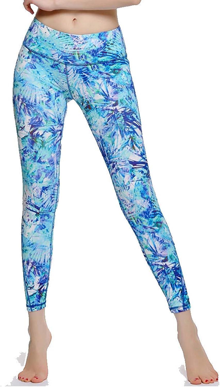 Yoga Chemical Fiber Blends Cropped Pants Women Tights High Waist Hips Slim Fits Fitness Dance Wear