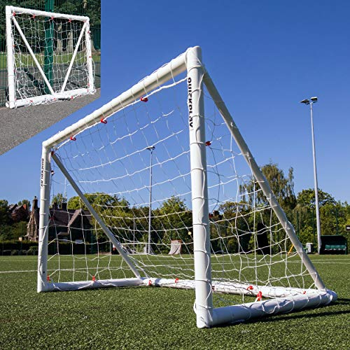 QUICKPLAY Q-Fold 8x5ft | The 30 Second Folding Football Goal for the Garden [Single Goal] The Best Weatherproof Football Net for Kids and Adults – 2YR WARRANTY