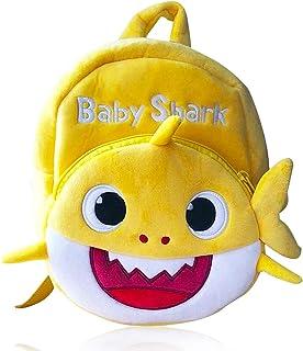 Shark - Mochila para Niños de Dibujos Animados, Mochila para guardería, (Amarillo)