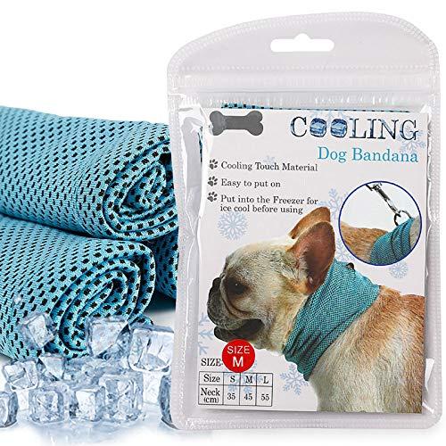 Coppthinktu Dog Instant Cooling Bandana, Breathable Scarf Ice Towels for Frenchie Bulldog