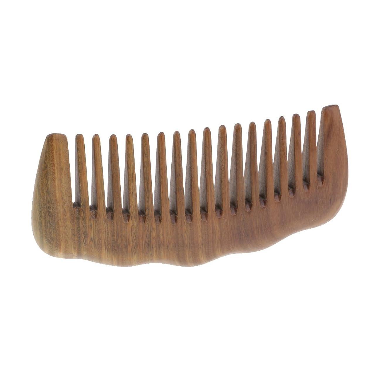 精神完全にライター広い歯の櫛のサンダルウッドのアロママッサージの毛のもつれを解くブラシのひげの櫛