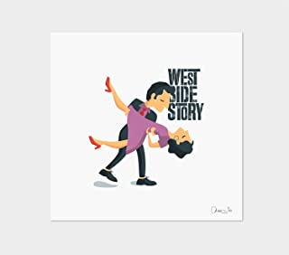"""Stampa"""" West Side Story"""". Disponibile in due misure: A4 / A3."""