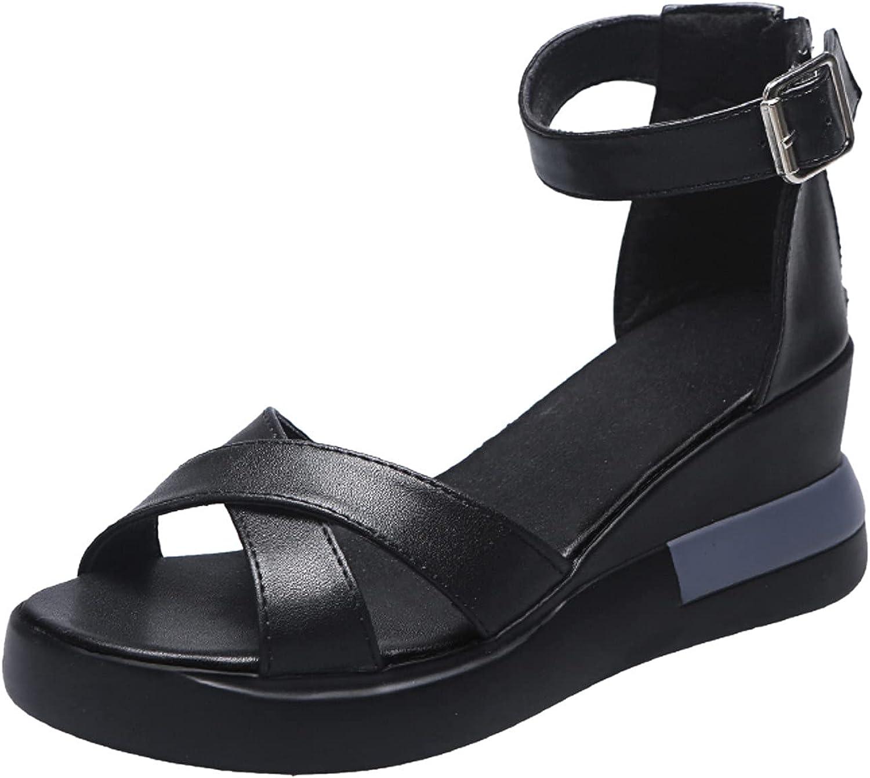 NLLSHGJ Sandals For Women Fashion Women Summer Flowers Flat Shoe