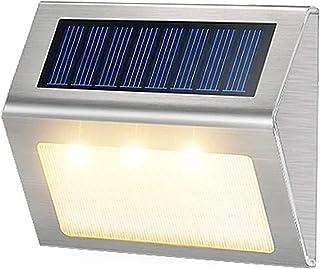 Want Want Lin Nieuwe Outdoor Rvs LED Solar Path Trap Licht Waterdicht 3 LED Solar Deck lights balkon tuin yard hek zonne-v...
