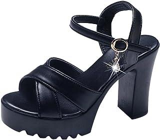 Sandalias de Vestir cuña Alta tacón Roma de Playa para Mujer, QinMM Casual Zapatos Verano Fiesta Chancla