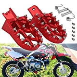 JFG RACING Dirt Pit Bike Foot pegs Footpegs For CRF50 CRF70 CRF110 XR50 XR70 XR110 Pit Bike Chinese Stomp Demon X WPB Orion M2R Lucky MX Thumpstar Piranha Coolsterand Tao Tao Bosuer KAYO - Red