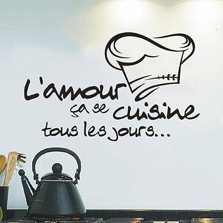 Elegant Moonuy Cuisine Autocollant Vinyle Decal Cuisine Carrelage Chef Mur Décor  Savoureux Wall Sticker Chambre Cuisine Decoration