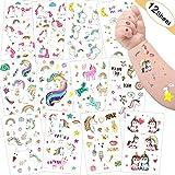 Tattoo Kinder, Sporgo Einhorn Tattoos Set, 300 Stück Einhorn Tattoos Kinder, Einhorn & Regenbogen...