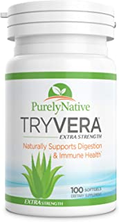 TRYVERA Extra Strength Aloe Vera Gels - Relieves Bouts of Painful Symptoms Associated with Interstitial Cystitis, Leaky Gu...