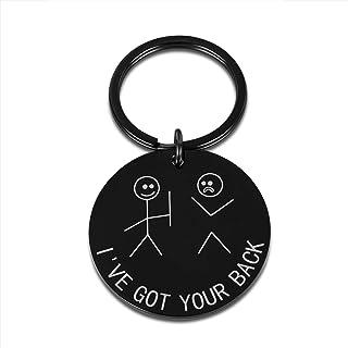 I've Got Your Back Stick Figures Funny Best Friend Keychain for Her Him