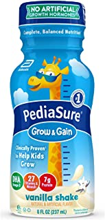 Pediasure Grow & Gain Kids' Nutritional Shake, With Protein, Dha, & Vitamins & Minerals, Vanilla, 8 Fl Oz, 24 Count