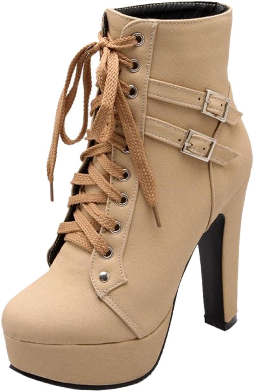 Melady Women Fashion Martin Boots High Heels Zipper