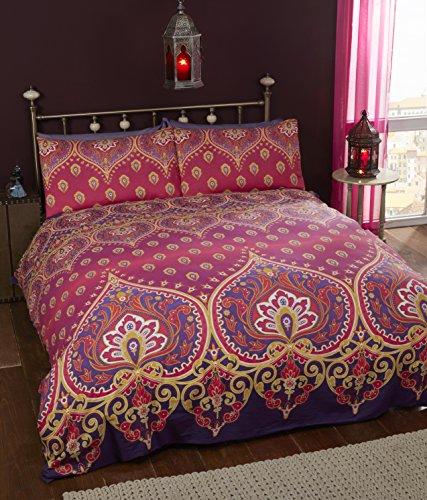 Rapport Asha Duvet Set, King-Ruby, Polyester-Cotton
