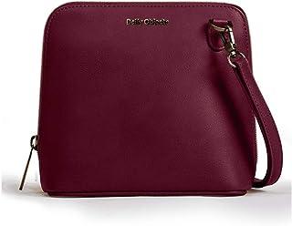 DailyObjects Burgundy Vegan Leather Trapeze Sling Crossbody Bag for girls and women | Vegan leather, Stylish, Sturdy, Zip ...