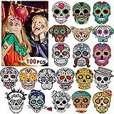 Howaf Halloween Tatouages Temporaires pour Enfant (100 Feuilles), Crâne Mort...