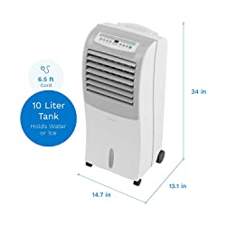 hOmeLabs Evaporative Cooler Humidifier and Auto Shut Off Function