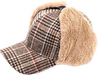 耳あて付き 帽子 防寒帽子 飛行帽 ハット パイロットキャップ スキー ニット帽 冬 格子 イギリス風のスタイル ファーライニング スキー アウトドア