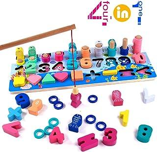 TONZE Centro de Actividades Bebe Juguetes Montessori 2 in 1 Tablero de Dibujo magn/ético Juguetes educativos Regalos ni/ños 1 2 3 4 5 a/ños con Bloques de construcci/ón