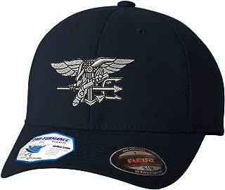 Navy Seal Silver Logo Flexfit Adult Pro-Formance Hat Dark Navy Large/X-Large