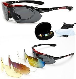 55507ca971 Wondder Gafas de Ciclismo 5 Lente de la Bicicleta Ciclismo Gafas de Sol  Deportes al Aire