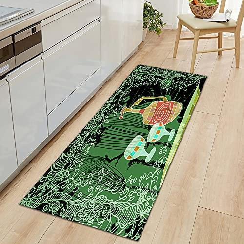 Alfombra de entrada con patrón de flores 3D para el hogar, decoración del dormitorio, pasillo, baño, alfombra antideslizante A22, 40 x 120 cm