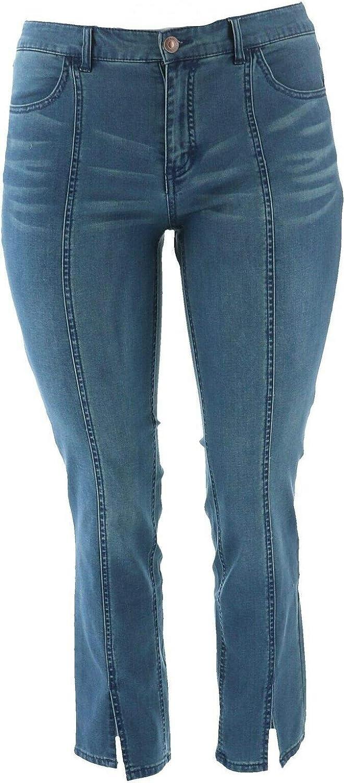 Lisa Rinna Collection Indigo Wash Jeans Seam A366188