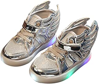 Toddler Kids Skate Shoes Children Baby Shoes LED Light up Luminous Sneakers