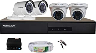 Hikvision Full HD (2MP) 4 CCTV Camera & 4Ch.Full HD DVR Kit (All Accessories)