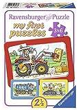 Ravensburger Kinderpuzzle 06573 - Bagger, Traktor und Kipplader - My first puzzle - Rahmenpuzzle