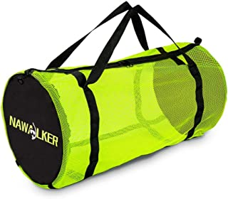 NAWALKER XL Mesh Dive Duffel Bag for Scuba or Snorkeling - Mesh Travel Duffle Tote for Scuba Diving and Snorkeling Gear Eq...