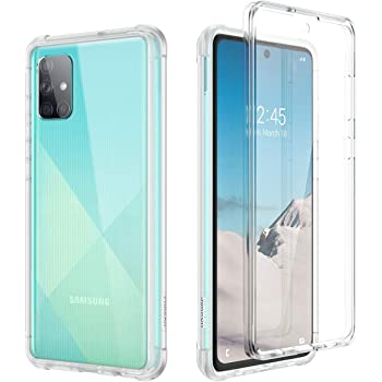 """SURITCH Case for Samsung Galaxy A71 【4G ONLY】, [Built in Screen Protector] Shockproof Full Body Protection Hard Shell & Hybrid TPU Bumper Rugged Transparent Case for Galaxy A71 4G 6.7""""(Clear)"""
