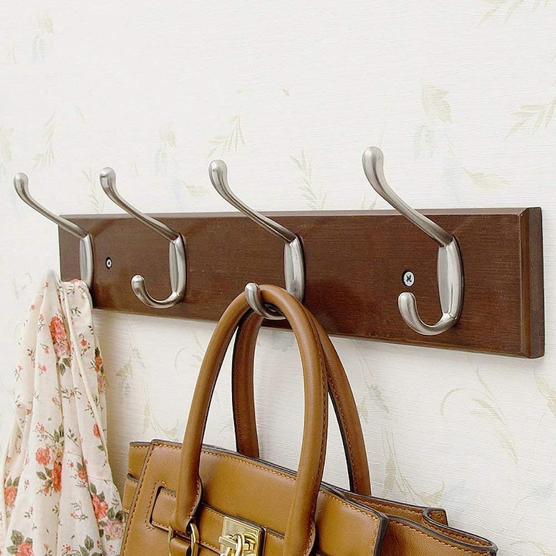 Shiyanghang Bedroom Wall Clothes Hook Vintage color Entrance Door Behind The Wall Coat Rack Solid Wood Hanger Coat Hook Hook (Size   B)