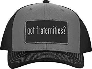 One Legging it Around got Fraternities? - Leather Black Metallic Patch Engraved Trucker Hat