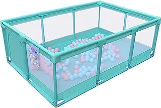 قفص لعب للأطفال والصغار، ساحة لعب آمنة للمنزل في الداخل والخارج، مركز نشاط قوي ودور (الحجم: 120 × 180 × 66 سم)