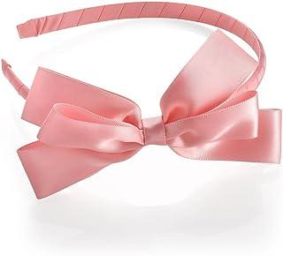 afe1f9ac617acf Große rosa Satin Feel Schleife Motiv Alice Haar Band Haarband