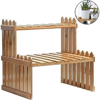 WOLTU Escalera para Plantas de Bambú Estantería para Flores con 3 Niveles Naturaleza 70 x 37 x 96,5cm RG9348br: Amazon.es: Hogar
