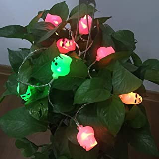 Led String Solar Lights 10PCS/lot Halloween Skull Garland for Decor outdoor Fairy Lights Color Changeable Automatically LE...