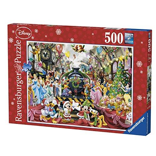 Ravensburger 14739 - Puzzle, Il treno di Natale Disney, 500 pezzi