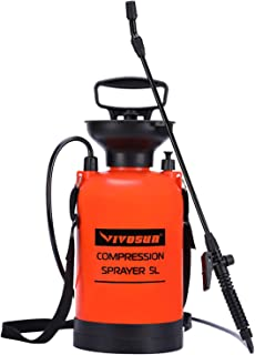 VIVOSUN 1.3 Gallon Lawn and Garden Pump Pressure Sprayer with Pressure Relief Valve,..