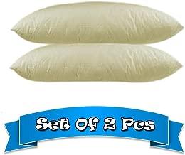 Coziness Plain Cream Luxurious Bed/Sleeping Pillow Set of 2-Queen(20x28 Inches)