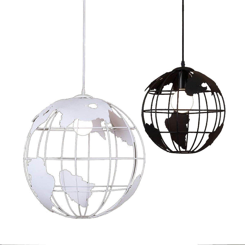 LXTX Kreativ Globe Kronleuchter Eisen Beleuchtung Schlafzimmer Restaurant Kunst Leuchte, schwarz, 20
