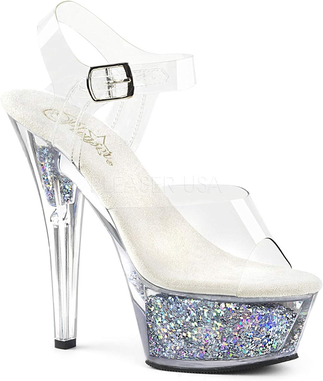 Pleaser Womens KISS-208GF  C SG Sandals
