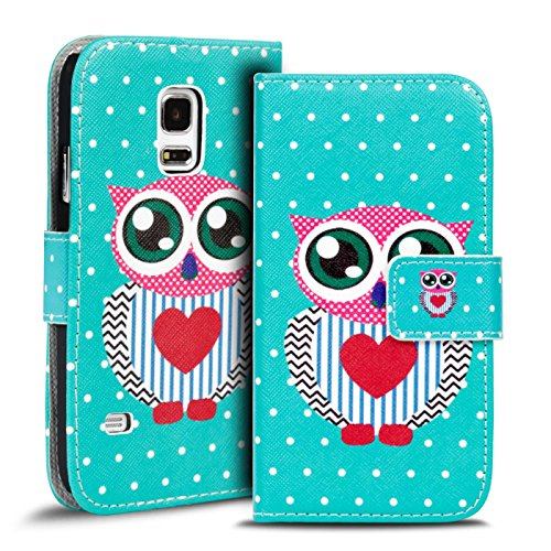 Verco Handyhülle Galaxy S5 Neo Muster, Motiv Hülle für Samsung Galaxy S5 Book Case Flip Cover - Design 20