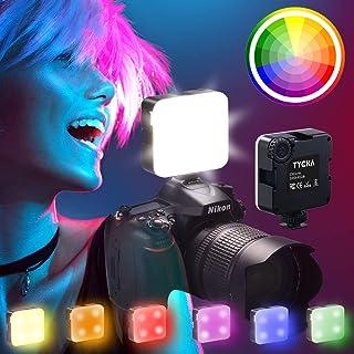 Tycka 最新 LED ビデオライト 撮影ライト RGBモード 明るさ無段階調節 3200k-6500k CRI95+ 2000mAh USB充電 スマホ/ビデオカメラ/一眼フレ/アクションカメラの撮影照明 SOSモード搭載 緊急ライトとして...