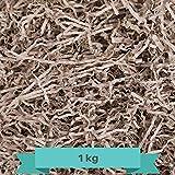 Creative Deco 1 kg Eco Papel Triturado Kraft   Reemplazo de Lana de Madera   Relleno Material de Embalaje para Cesta, Caja, Paquete, Viene en Embalaje Azul
