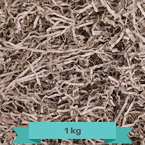 Creative Deco 1 kg Eco Papel Triturado Kraft | Reemplazo de Lana de Madera | Relleno Material de Embalaje para Cesta, Caja, Paquete